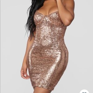 Fashion Nova-Livin for the Weekend Sequin Dress XS